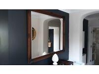 Mirror Bevelled Edge Antique Dark wood