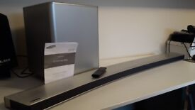 Samsung HW-H7501 curved sound bar with subwoofer / silver color