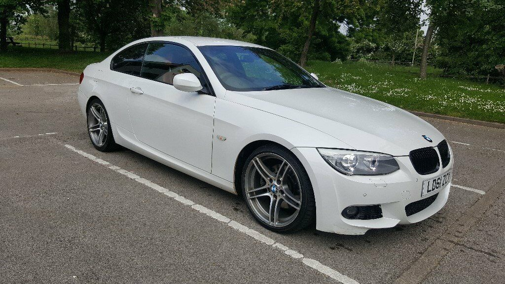 Bmw 3 series coupe msport 325d white with red leather seats 61 plate 341bhp 12 months mot in - Bmw 2 series coupe white ...
