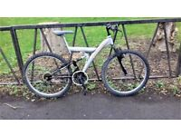 """18 Speed Full Suspension Mountain Bike Bicycle. Fully Serviced & Guaranteed. 18"""" Frame"""
