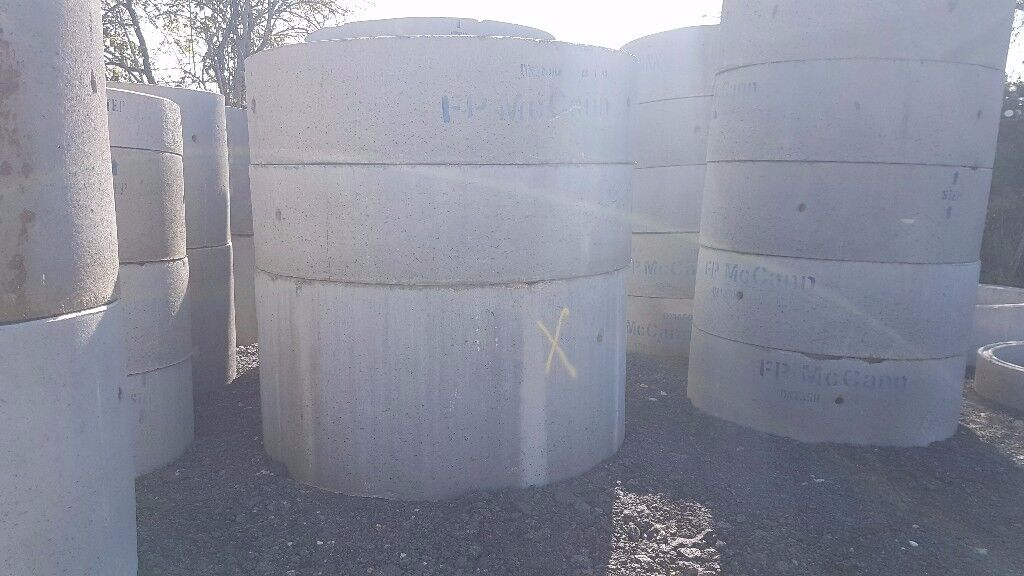 Concrete Chamber Manhole Ring 1350 mm x 500 mm with steps. Soakway unit with 75mm diameter holes