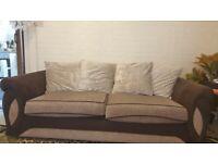 Dfs 4&3 seater sofa