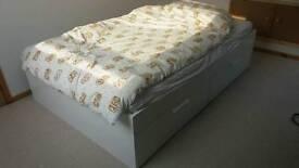 Double Bed (Brimnes) plus foam mattress (Malvik)