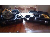 Dewalt 24 v cordless tools set, SDS Drill, Circular saw, batts/charger, see photos & details