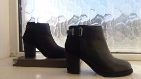 New Faith Black Heel Ankle Boots size 4