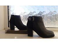 New Faith Black Heel Ankle Boots size 4