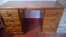 Large oak wood desk