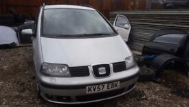 seat alhambra 1.9 tdi 2007 diesel breaking for spare parts