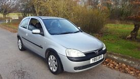 vauxhall corsa 1.2 sxi very clean car drives well mot sept 2017