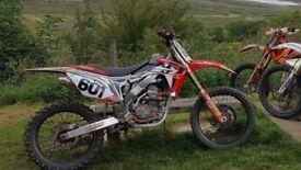 Honda crf250 twin pipe not yzf ktm cr gasgas
