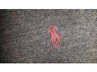 Ralph Lauren Polo Grey Merino Wool Jumper (SMALL) - NEW