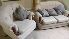 2 seater and chair sofa - good condition