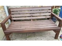 GARDEN BENCH MADE TO ORDER LENGHTH 122CM BY 57CM