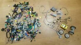 Lego Technic motor parts and Lego