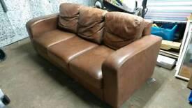 Large 3 seater Sofa Workshop leather sofa