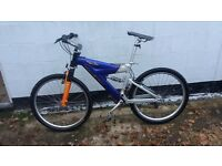 "RALEIGH TOP OF THE RANGE MOUNTAIN BIKE 24 SPEED "" I can deliver"""