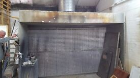 Industrial spray booth and extractor fan for sale