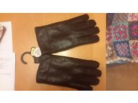 mens leather gloves size L and XL