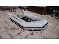 INFLATABLE DINGHY 230 , 2.3M , OUTBOARD TRANSOM , DINGY TENDER RIB SIB BOAT