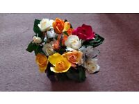 Aesthetic colourful artificial table flowers for decoration (bundle of 6)