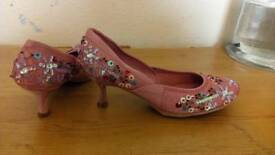 Satin shoes size 5new
