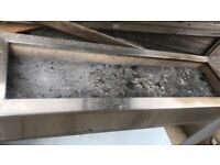 Stainless steel real brick charcoal grill