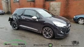 2012 CITROEN DS3 SPORT HDI BLACK BREAKING SPARES PARTS SALVAGE