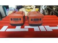 Hilti li ion 22v 3.3ah batterys