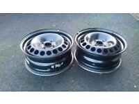 """15"""" black steel rim wheels"""