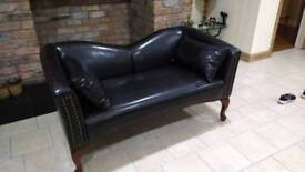 Faux leather two seater