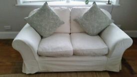 Sofa Workshop x 2 two seater settees white good condition