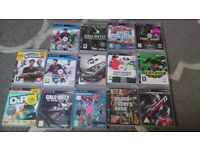 Playstation 3 with 4 controllers and 15 games