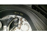 wholesale brand new on box black belts metal buckle