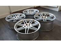 19 INCH CALIBRE CCR ALLOY WHEELS 5 X 112 STAGGERED FIT WIDER REARS AUDI MERC VW SOKDA COST £700 NEW