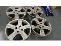 """GENUINE OEM PEUGEOT 16"""" 4X108 ALLOY WHEELS FORD CITREON CLEARANCE"""