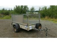 ifor Williams 6 X 4 single axle trailer with mish sides