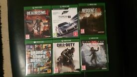 Xbox One games, Forza 7, Shadow of war, Resident Evil 7, GTA5, Dead rising 4,rise of the tomb raider