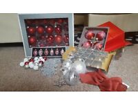 mixed box of Christmas decorations