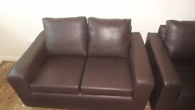 2,3 seater lether sofas