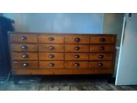 Gorgeous 16 drawer haberdashery unit