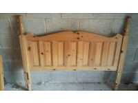 Solid pine double bed. (dismantled) plus free optional memory foam mattress