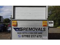 Large luton van with tailift for all removals/man with a van