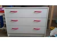Girls white chest of drawers