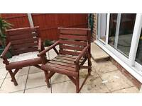 Free pair of garden chairs