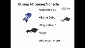 buying ALL console/games nintendo64/playstaipon 1/sega/game cube
