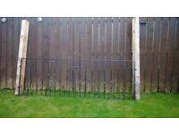 Steel driveway gate's for sale +2 posts would benefit a lick of paint