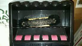 Snooker pool cue rack and brush
