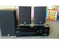 Yamaha DSP-A595 Amplifier + Powered Active Base and Rear Speakers