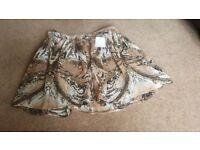 Brand new printed summer mini skirt size 12