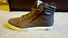 Brown Firetrap hi-tops UK 7